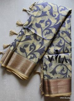Kora Silk Sarees, Silk Saree Kanchipuram, Saree Fashion, Ethnic Fashion, Net Saree, Formal Shirts, Saree Styles, Baby Girl Dresses, Saree Collection