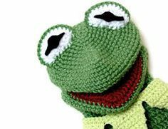 Kermit-Handpuppe häkeln - so gelingt es