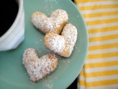 A recipe for homemade beignets. These miniature hearts would be a delightful appetizer or dessert for a Paris inspired vintage party.