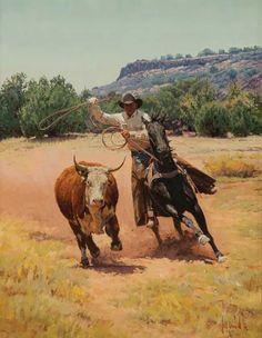 Bill Owen ~ The Cowboy Artist O Cowboy, Cowboy Horse, Cowboy Artwork, Cowboy Pictures, Real Cowboys, West Art, Le Far West, Country Art, Mountain Man
