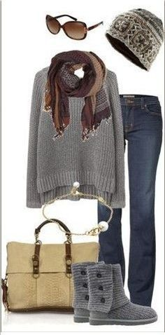 Hate the Uggs, but with a different pair of boots or a comfy pair of moccasins this would be an adorable Christmas morning outfit. Description from pinterest.com. I searched for this on bing.com/images