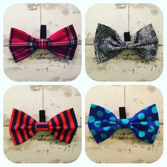 Introducing our new handmade Dog Bow Ties #handmade #dogaccessories #dogbowtie by theblackdogbaker
