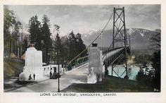 Vancouver B C Canada Lions Gate Bridge Tinted Postcard