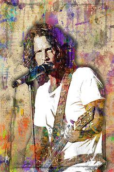 Chris Cornell Pop Poster, Chris Cornell Pop Gift, Chris Cornell Layere                      – McQDesign