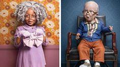 Série fotográfica mostra crianças 'fantasiadas' de idosos para ilustrar matéria do NYT
