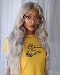 1 or 🤔 Black Girls Hairstyles, Messy Hairstyles, Nyane Lebajoa, Pastel Wig, Colored Curly Hair, Neon Hair, Hair Reference, Girls Braids, Aesthetic Hair