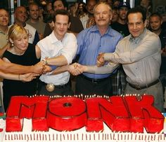 """""""Monk"""" cast members from left: Traylor Howard, Jason Gray Stanford, Ted Levine… 80 Tv Shows, Movies And Tv Shows, Monk Serie, Detective Monk, Traylor Howard, Monk Tv Show, Adrian Monk, Jason Gray, Tony Shalhoub"""