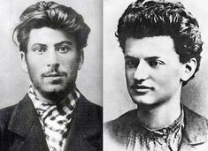 Stalin and Trotsky back when communists knew how to look good.