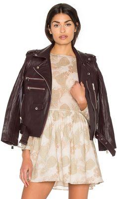 ANINE BING Biker Leather Jacket