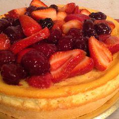 Cheese cake de frutos rojos. Huerta orgánica de Celery Servicios Gourmet