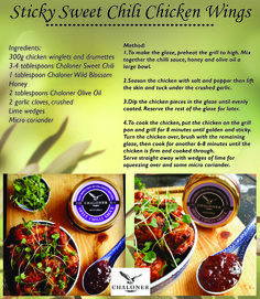 Chaloner - Finest South African Olive Products and Preserves Sweet Chilli Sauce, Sweet Chili, Large Bowl, Chicken Wings, Preserves, Grilling, Finger, Recipes, Preserve