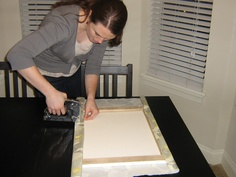 DIY Fabric covered canvas tutorial