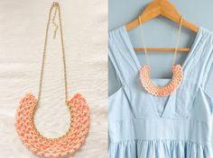 Faça você: Maxi colar de crochê e pedraria - VilaClub