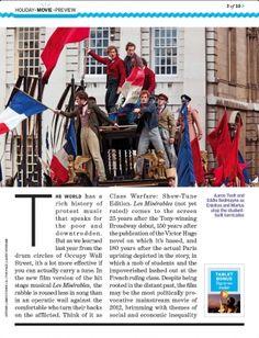 The Revolutionaries - Les Mis article in EW