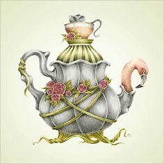 Alice in Wonderland Illustration by Courtney Brims Lewis Carroll, Illustrations, Illustration Art, Alice In Wonderland Teapot, Image Deco, Adventures In Wonderland, Art Drawings, Drawing Art, Water Drawing