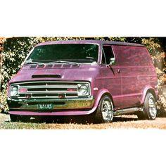Custom Dodge 70's van