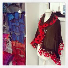 Kate Ramsey's merino wool and silk scarves Craft Sale, Silk Scarves, Plaid Scarf, Merino Wool, Fashion, Moda, Fashion Styles, Fashion Illustrations