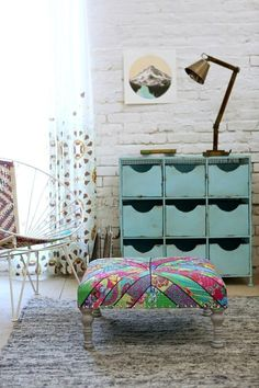 Magical Thinking Kantha Square Stool urbanoutfitters