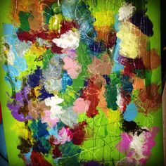 Color,rainbow,oil,glue,2014,green,artwork.