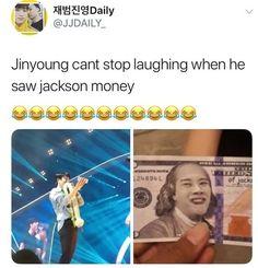 we all love some jackson memes Got7 Meme, Got7 Funny, Hacks, Kpopper, Funny Memes, Bts Memes, Btob, Jackson Wang, Got7 Jackson
