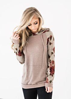 Scarlet Rose Baseball Hoodie, blonde, makeup, jessakae, womens fashion, fashion, style, ootd, womens style, winter fashion, floral hoodie