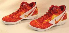 Men's Nike Zoom Field General Super Bowl XLIX Size 13 Orange Red Shoes #NikeHighTopFire