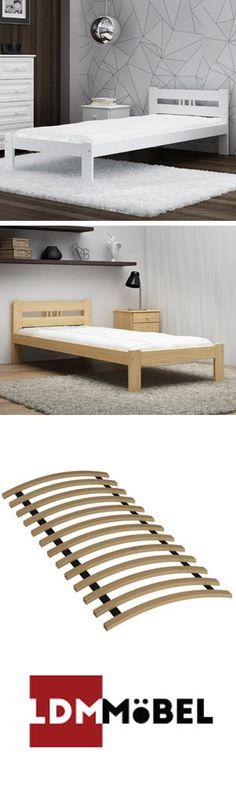 Weiß oder Kiefer?? Welche Farbe würdet ihr wählen??  #Bett #BettmitLattenrost #Holzbett #Schlafzimmer