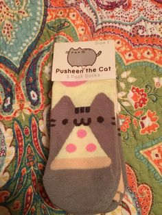 #Pusheen Subscription Box Spring 2016 3 Pack Socks New Kawaii Cat Sold Out #Socks #PusheenBox Womens 7-8  size