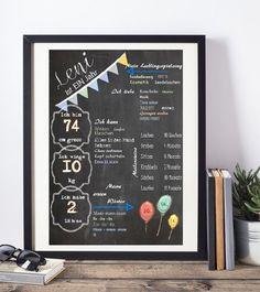 Die ersten Jahre Deines kleinen Schatzes auf einer Tafel festgehalten. Eine prima Erinnerung an das erste Lebensjahr. #Kreideprints #Chalkboard #Kreidetafel #Geburtstagstafel #Meilensteintafel #Meilenstein #1.Geburtstag #firstbirthday #Geschenkideen #GeschenkBaby #Geburtstagsposter #Geburtstagskarte #challigraphy #lettering