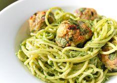 Spinach Pesto and Turkey Meatballs
