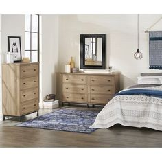 Better Homes and Gardens River Crest 6-Drawer Dresser, Scenic Oak Finish