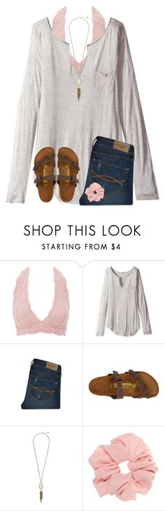 """Favorite trends from 2016 contest"" by ponyboysgirlfriend ❤ liked on Polyvore featuring Charlotte Russe, LAmade, Abercrombie & Fitch, Birkenstock and Kendra Scott"