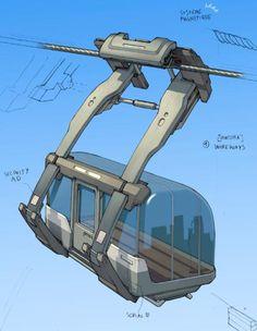 Gray Shuko's place - portfolio ~ Much what I imagine Eldegard's gondola system to look like.