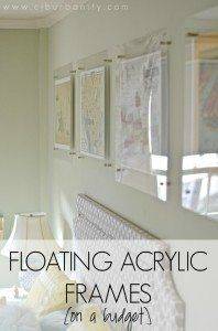 Floating Acrylic Frames on a budget plus antique map resource.