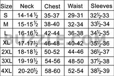 With latest fashion trends and styles, buying a shirt that fits you well can be a confusing task. Let us help you find the perfect shirt that not only suits you, but will also increase your self-confidence. Here is a look at the size chart, and how to take measurements.