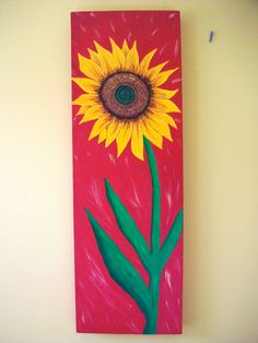 Huge Sunflower Peace Sign Acrylic Art Painting on Canvas Peace Sign Art, Peace Signs, Art App, Picture Arrangements, Canvas Ideas, Acrylic Art, Sunflowers, Painting & Drawing, Colorful Backgrounds