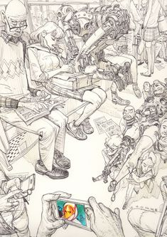 Kim Jung Gi Mixes Fantasy and Reality in Enthralling Sketches | Hi-Fructose Magazine