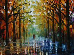 HAND PAINTED OIL PAINTING ABSTRACT WALL DECOR AUTUMN SCENERY ON CANVAS ZO6000069 #ZL #oilpainting