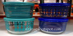 Pyrex 8-Piece Simply Store Decorated Glass Storage Container.  #Costco #FrugalHotspot