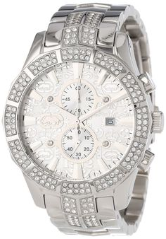 432423536d5 Marc Ecko Men S E22569G1 The M-1 Silver Stainless Steel Watch