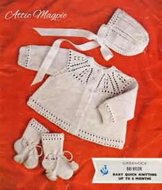Vintage Baby Knitting Pattern - Babies Knitted Layette - AM020