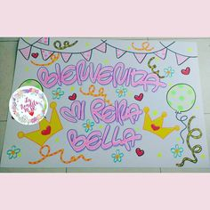 Carteleras - pancartas personalizadas, el motivo que prefieras!!!! #pancartas #carteleras #cucuta #colombia Washi, Diy And Crafts, Life Hacks, Notebook, Baby Shower, Kawaii, Lettering, Erika, Gifts