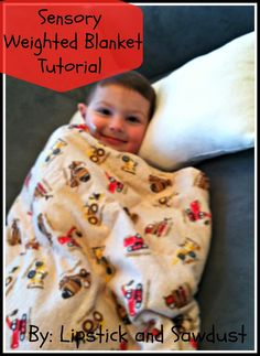 Weighted Blanket for help with Autistic/ Sensory Children Tutorial         In honor of Autism Awareness month (April), there is no better ...