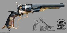 Westwood ElDorado - Revolver concept by ThoRCX on DeviantArt Steampunk Weapons, Sci Fi Weapons, Weapon Concept Art, Weapons Guns, Fantasy Weapons, Guns And Ammo, Pistola Steampunk, Rifles, Colt Single Action Army