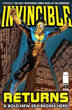 Invincible #70.5: Invincible Returns AT LONG LAST, INVINCIBLE RETURNS TO HIS ORIGINAL COSTUME! After the shocking events of the Invincible War and the cataclysmic battle with Conquest, Invincible is ready to turn the page to a bold new era: just in time for THE VILTRUMITE WAR, starting in next month's INVINCIBLE #71! This special self-contained issue will bring readers new and old up to speed on everyone's favorite superhero comic. If you've never read INVINCIBLE, now is the time to dive in!