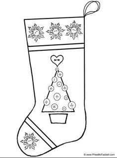 Christmas Stocking Coloring Page JPG