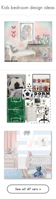"""Kids bedroom design ideas"" by yours-styling-best-friend ❤ liked on Polyvore featuring homedecor, amazingcollection, kidsroom, beauty, Jay Strongwater, Pottery Barn, My Little Pony, Deborah Rhodes, Victoria's Secret and KaBloom"