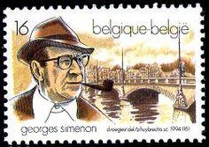 Detective Fiction on Stamps: Simenon - France, Belgium, Switzerland