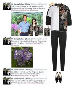 """""""2014; Southeast Asia Royal Tour; Singapore Day 2; Visit to Singapore Botanic Gardens and National Orchid Garden"""" by evangelineoftheunitedkingdom ❤ liked on Polyvore featuring Biyan, Dolce&Gabbana, Theory, Chanel, Nicholas Kirkwood and vintage"""
