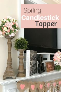 Home Interior Velas DIY Spring Candlestick Topper by Southern Charm Wreaths Interior Velas DIY Spring Candlestick Topper by Southern Charm Wreaths Diy Spring Wreath, Diy Wreath, Wreath Making, Wreath Ideas, Spring Crafts, Chandeliers, Cheap Home Decor, Diy Home Decor, Velas Diy